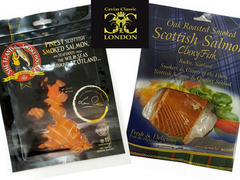 Smoked & Roasted Scottish salmon- Caviar Classic London