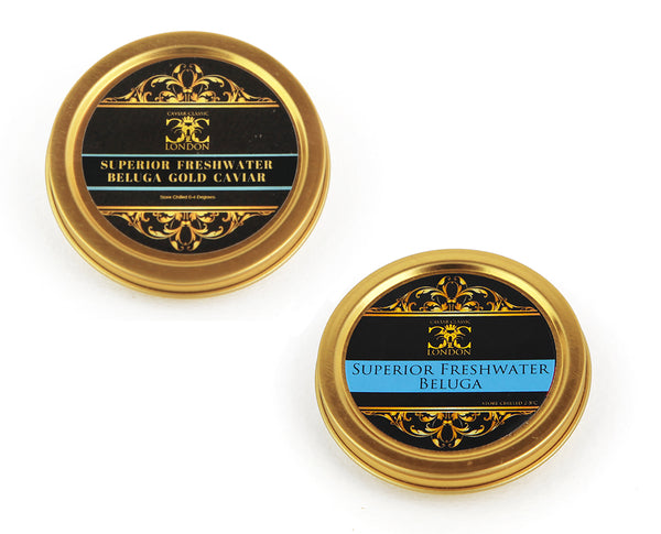 Superior Freshwater Beluga Duo (30-250 gr) POPULAR! - Caviar Classic London