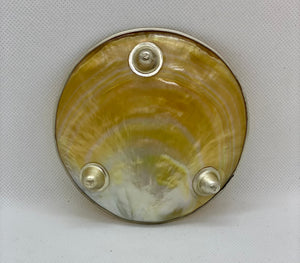 Mother of Pearl Dish/Plate Sturgeon Fish Silver Patterns - Caviar Classic London