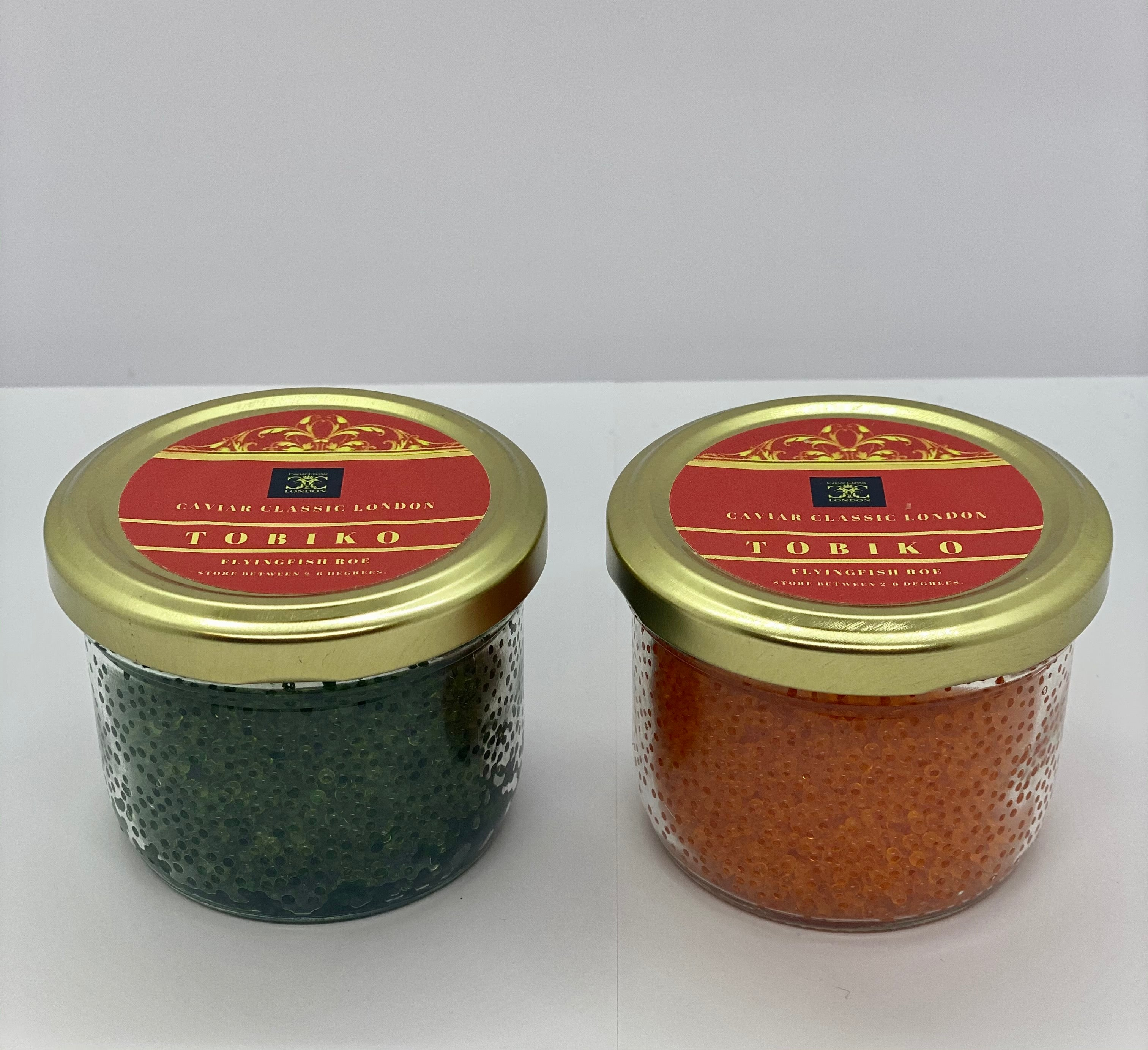 Tobiko (Orange/Green/Red/Yellow/Black). 80g - Caviar Classic London