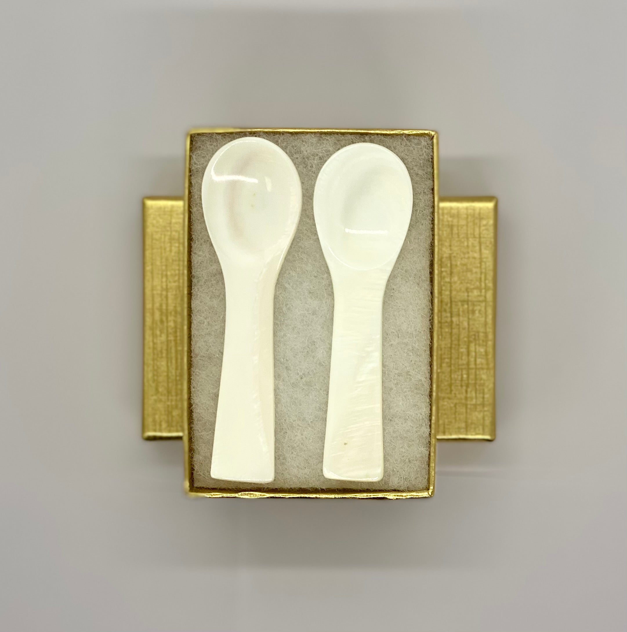 Small Mother of Pearl Spoons - Caviar Classic London