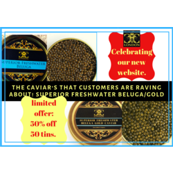 A must try: .Superior Freshwater Beluga/gold. 50% off. Ends 15.07. - Caviar Classic London