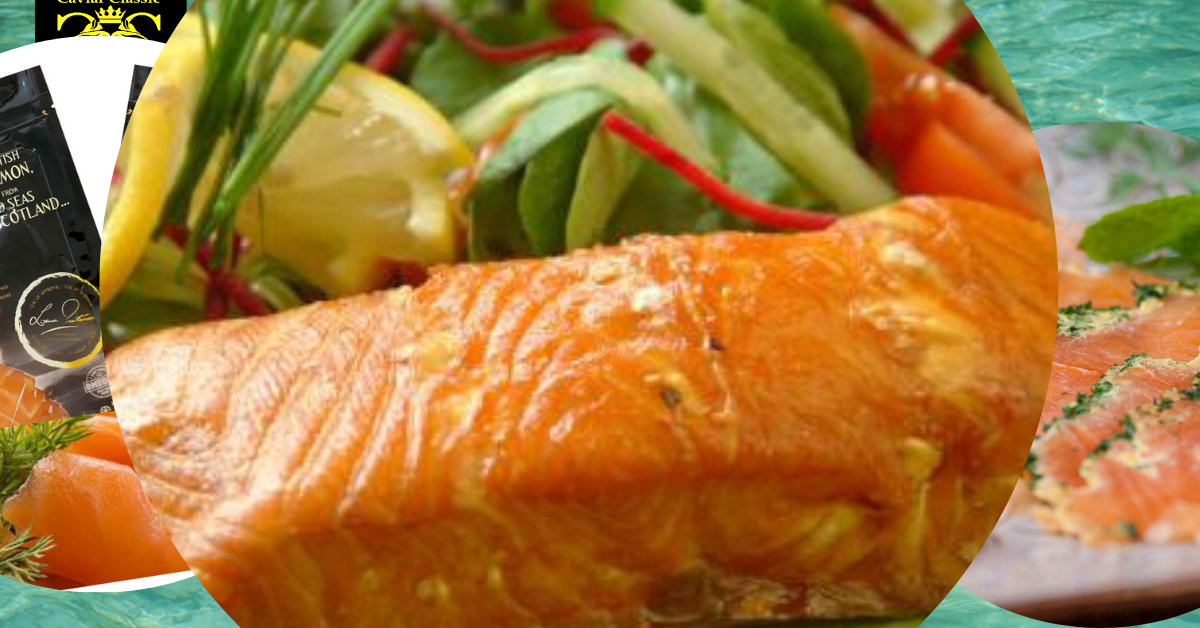 Oak Roasted Scottish Salmon 400 gr - 1 kg.(Whole side) 2-3 days delivery time. - Caviar Classic London