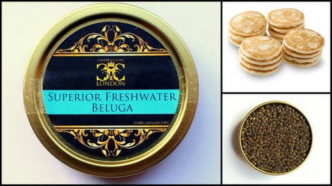 Superior Caviar Package - Caviar Classic London