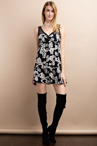 Floral Babydoll Tunic/Dress