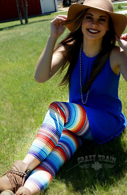 Sunset Serape Capri Leggings