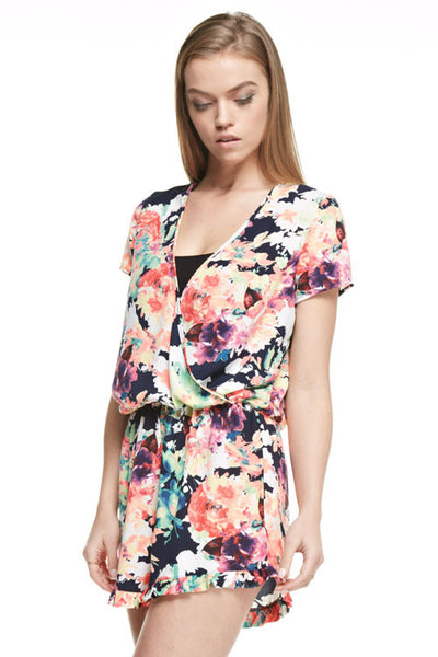 Colorful Flowers Romper
