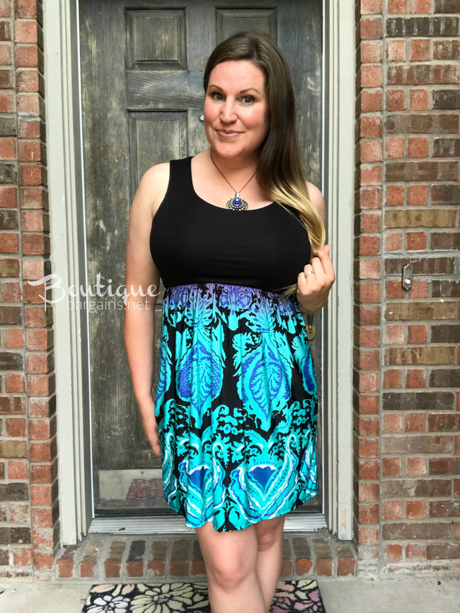 Damask Mini Dress