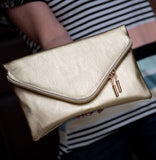 Envelope Clutch in Gold