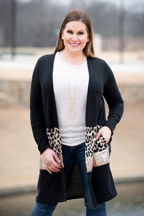 Sequin Glam Cardigan