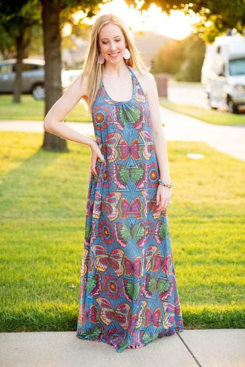 Butterfly Print Maxi