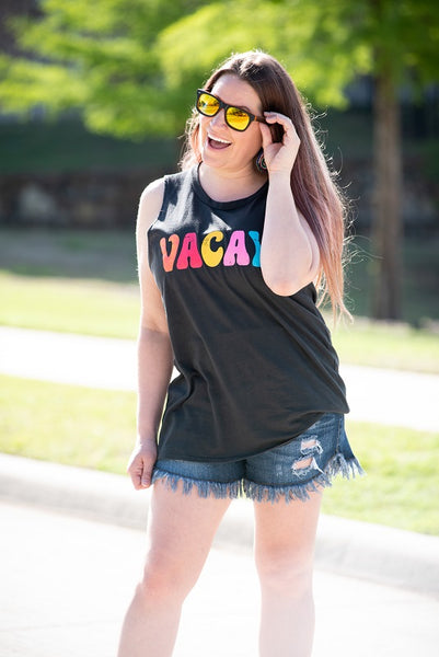 Vacay Tank in Black