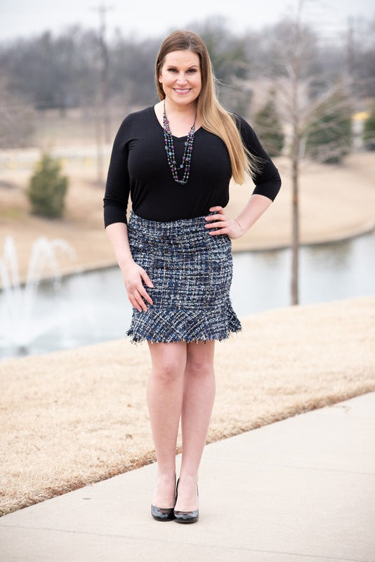 Pencil Peplum Skirt
