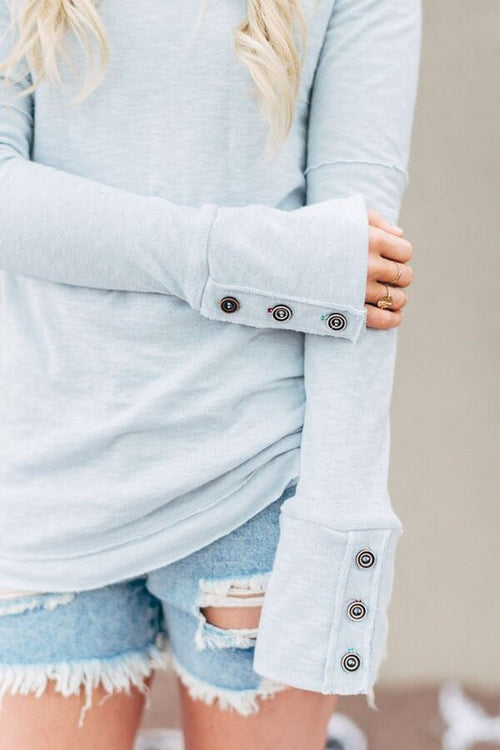Cozy Button Cuff Top