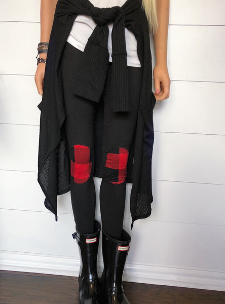 Plaid Patch Leggings