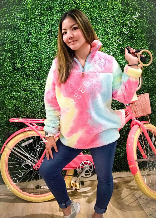 Cotton Candy Tie Dye Pull Over - Kids & Adults