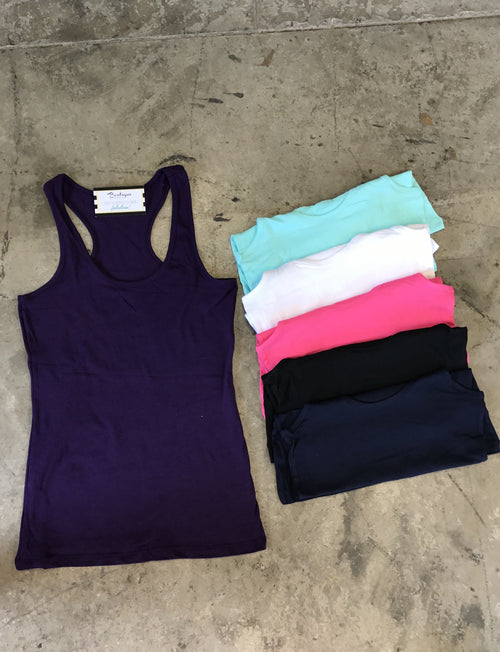 Basic Racerback Tank - Several Colors