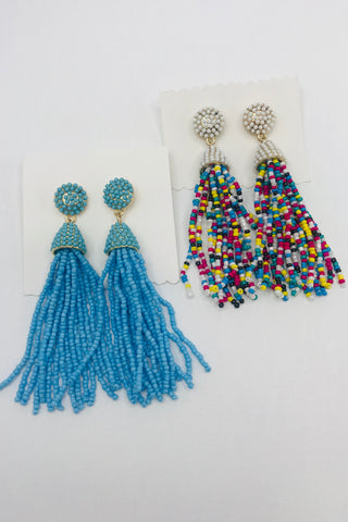 Beady Tassel Earrings