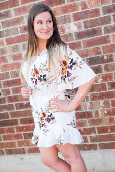Floral Off Shoulder Romper