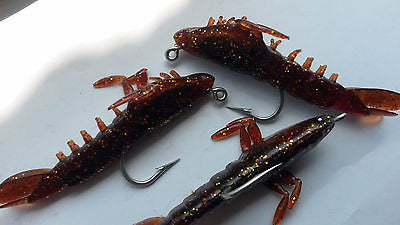 Berkley Power Bait PRE RIGGED SHRIMP Fishing Sea Rig gulp Lures Scented  Shad Cod