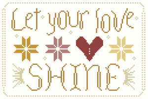 let your love shine - #bewellandstitch freebie