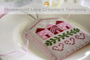 peppermint lane - finishing your ornament