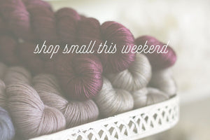 shop small this weekend!