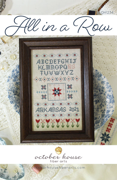 All in a Row #OH1234 - October House Fiber Arts - Needlework Expo release