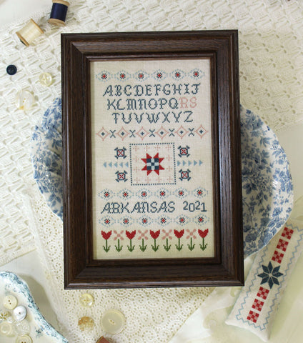 all in a row - needlework expo preview - october house fiber arts