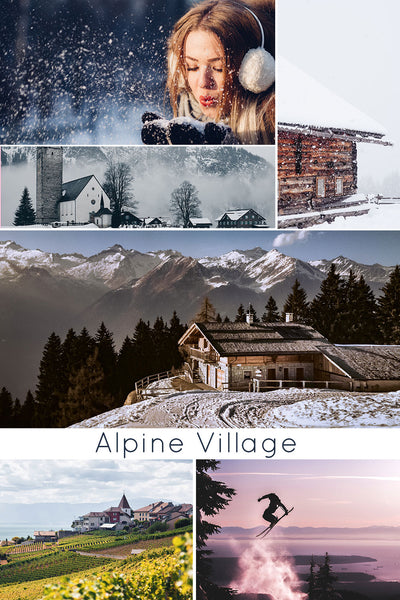alpine village mood board