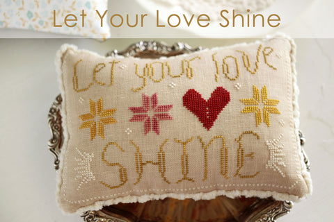 let your love shine - complimentary cross stitch pattern by robin sample - october house fiber arts