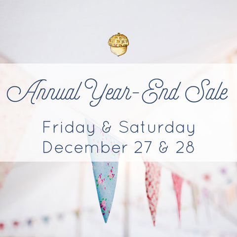 annual year-end sale - october house fiber arts journal