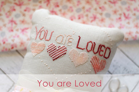 you are loved freebie - october house fiber arts - cross stitch pattern