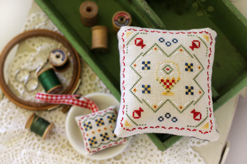 maggie's basket - cross stitch pattern - october house fiber arts - june 2020