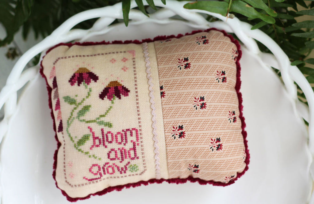 Bloom and Grow Cross Stitch Pattern - October House Fiber Arts journal