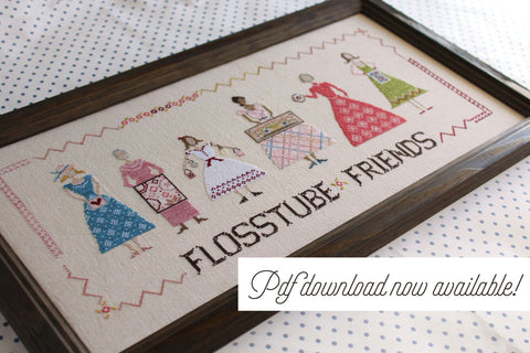 flosstube friends - now available as a pdf download - october house fiber arts