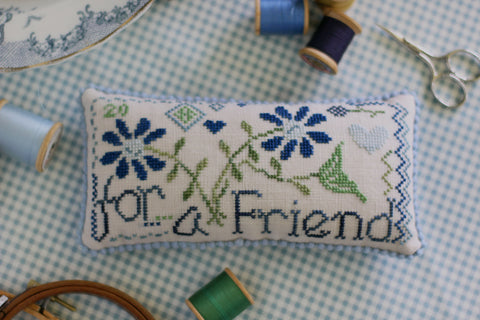 for a friend - cross stitch new release - october house fiber arts journal