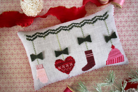 handknit holiday - cross stitch new release - october house fiber arts journal