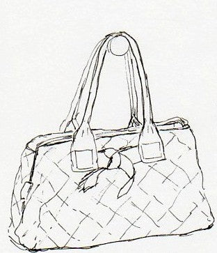 a favorite purse sketch - october house fiber arts journal