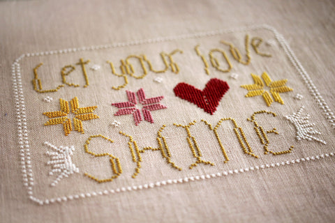let it shine - october house fiber arts journal