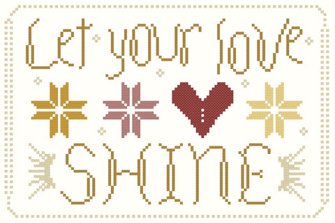 let your love shine freebie - october house fiber arts journal
