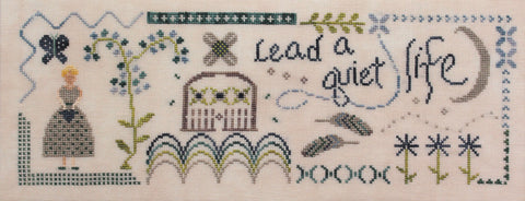 lead a quiet life - cross stitch new release - october house fiber arts journal