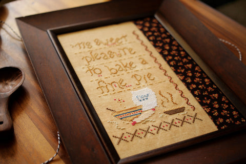 sweet pleasure - cross stitch pattern - october house fiber arts journal