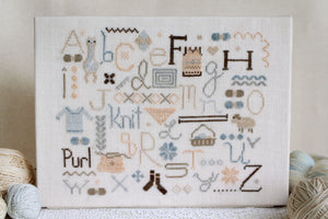 The Knitter's Alphabet - Cross Stitch Pattern
