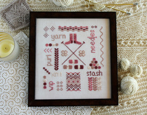 A Knitter's Sampler - Cross Stitch Pattern