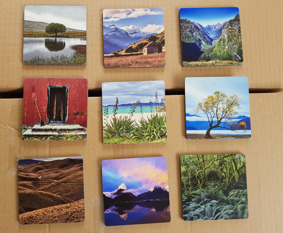 New Zealand Table Coasters - Handmade in NZ by Pure NZ Prints. PureNZprints.com