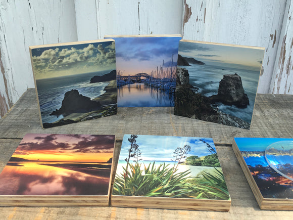 NEW RELEASE - Pure NZ Prints now provide a Travel Gift with 3 options!  Desk Art  Table Coasters  Little Wall Art  Created by New Artists and Handmade in New Zealand Wood  PureNZprints.com   #handmade #NewZealand #NZ #travelgifts #gifts #coasters #NZ