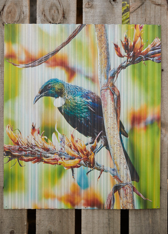 Garden Art - Unframed Tui Green