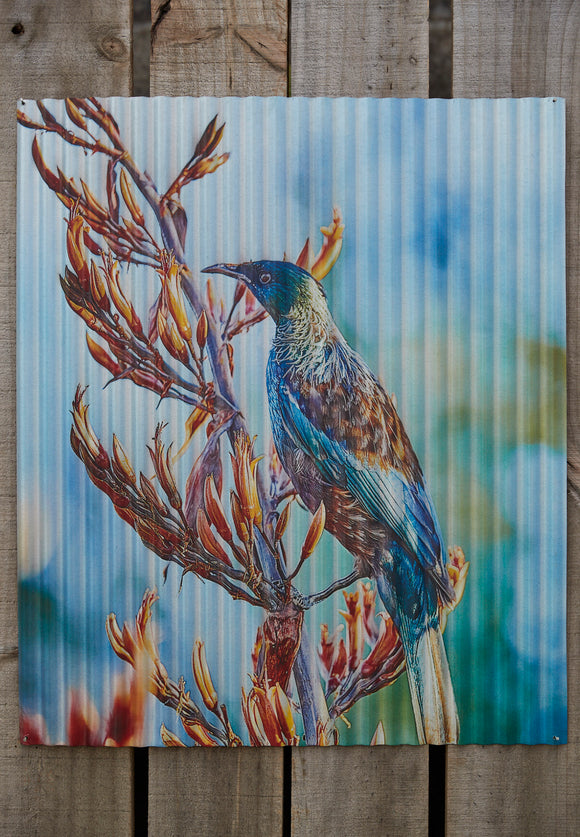Garden Arts - Tui Blue Unframed