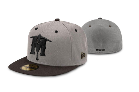 New Era Hat Grey and Black Brim